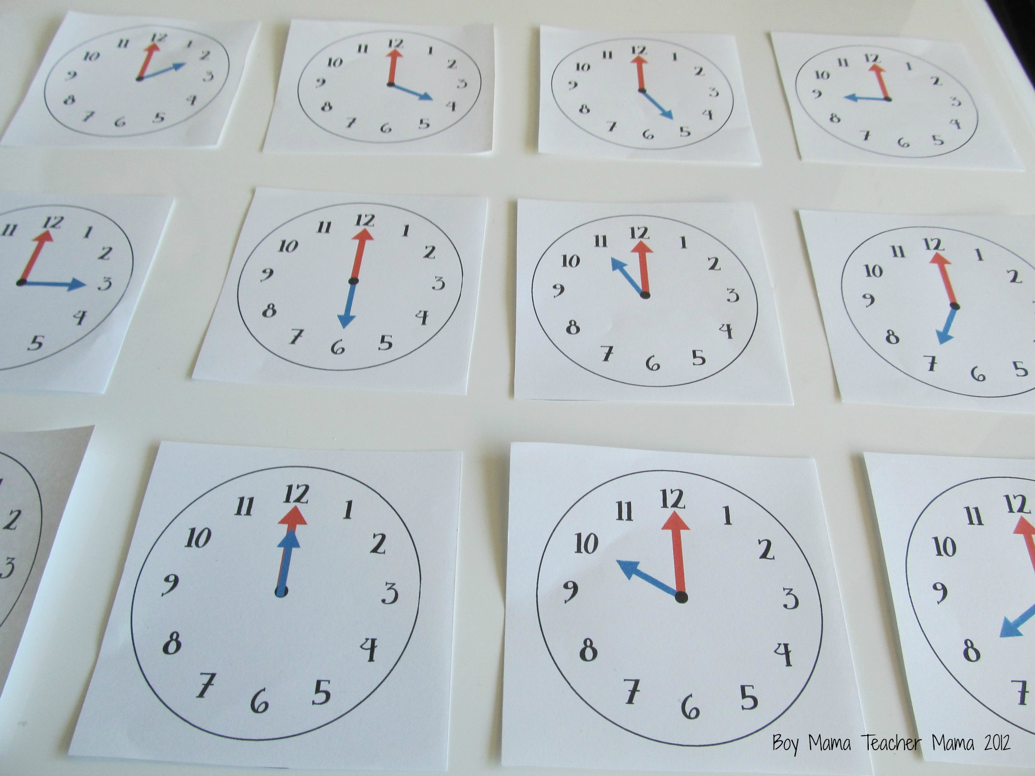 Teacher Mama Oclock Cards Games For Teaching Time To The Hour