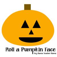 Boy Mama:  Roll a Pumpkin Face